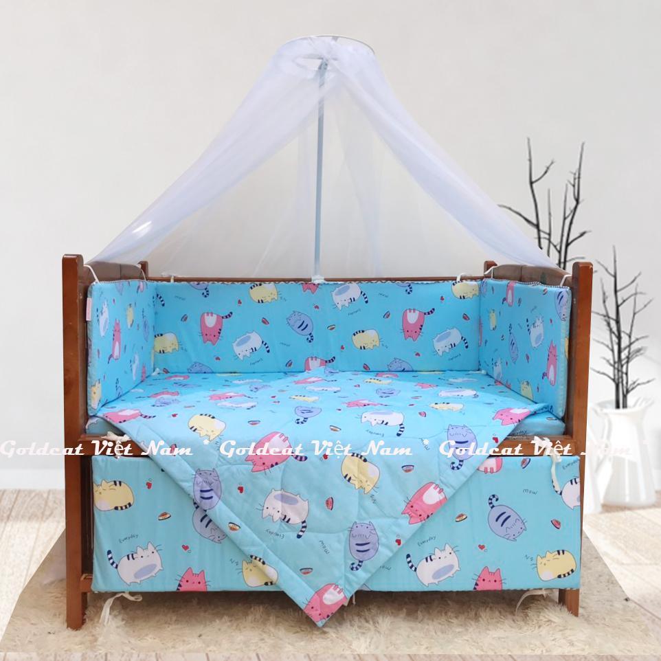 Combo cũi giường Cánh Gián GoldCat (Mèo Béo Xanh, Không bánh xe)