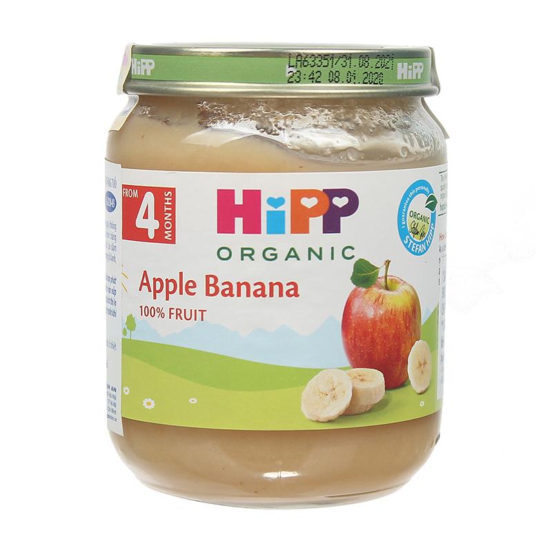 Dinh dưỡng đóng lọ HiPP vị chuối táo 4+ AL4210-01 (125g)