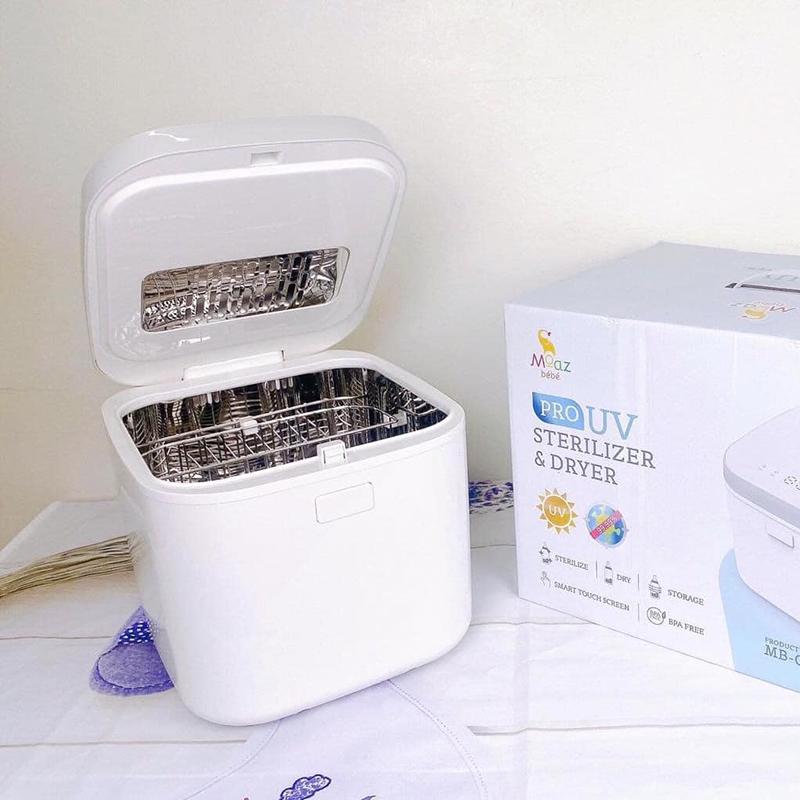 Máy tiệt trùng sấy khô tia UV Moaz BéBé MB-019 Màu trắng