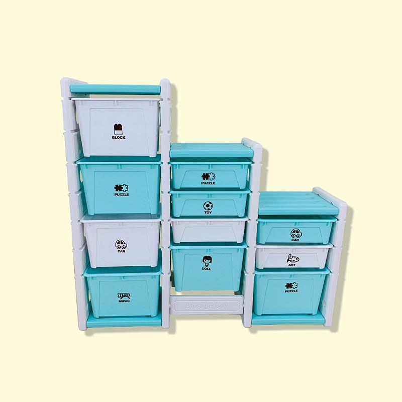 Tủ đựng đồ chơi Holla màu xanh
