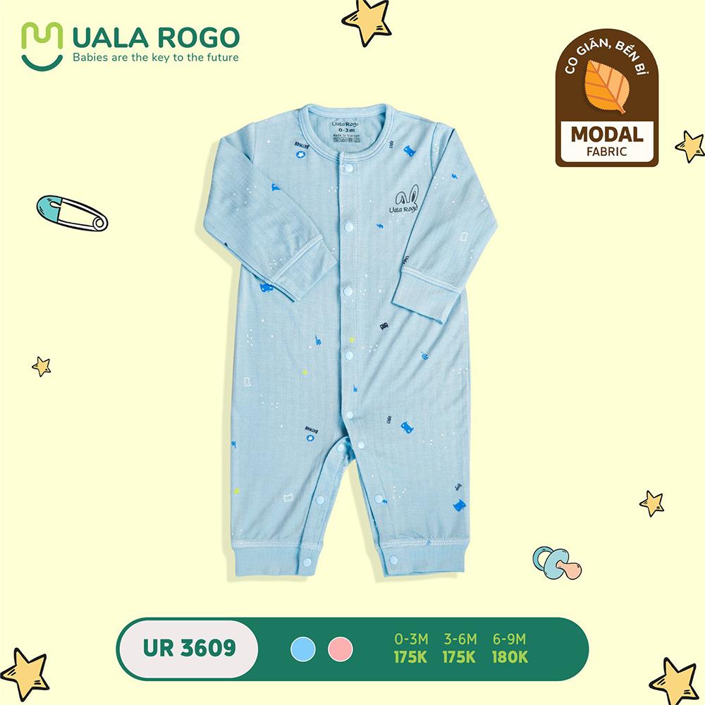 UR3609.1 - Bộ body cài giữa vải sợi sồi Uala Rogo - Màu xanh