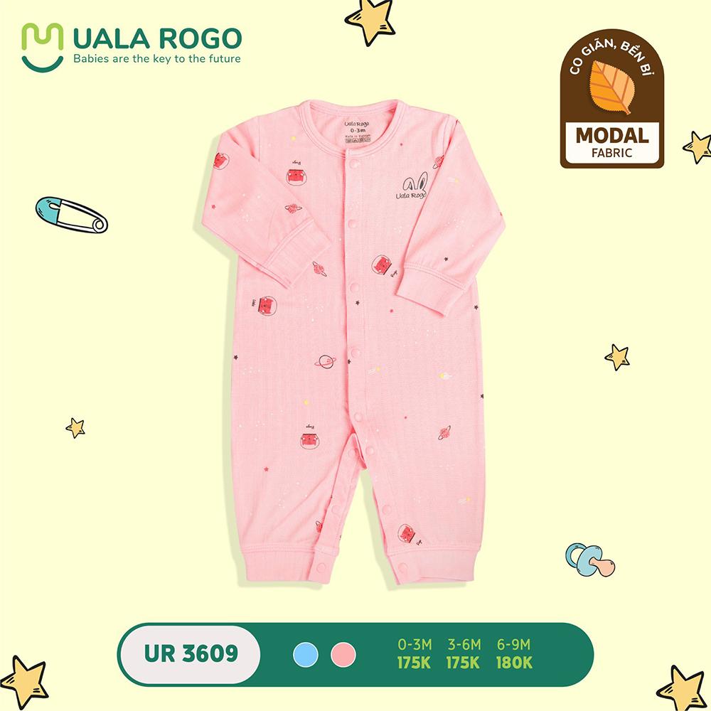 UR3609.2 - Bộ body cài giữa vải sợi sồi Uala Rogo - Màu hồng