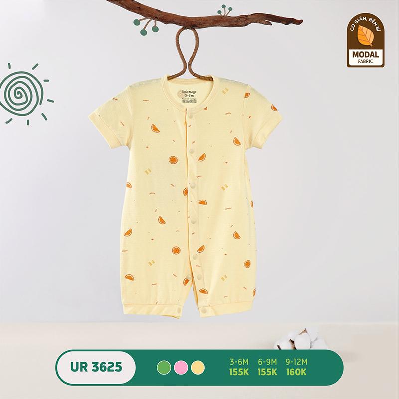 UR3625.3 - Bộ bodysuit (áo liền quần) Uala Rogo vải sợi sồi - Màu vàng