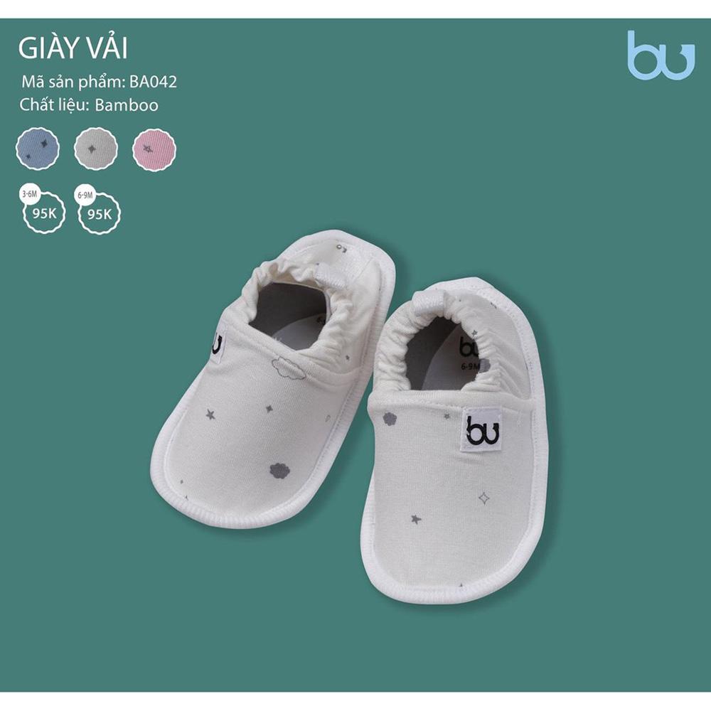 BA042.3 - Giày vải Bamboo Bu màu xám