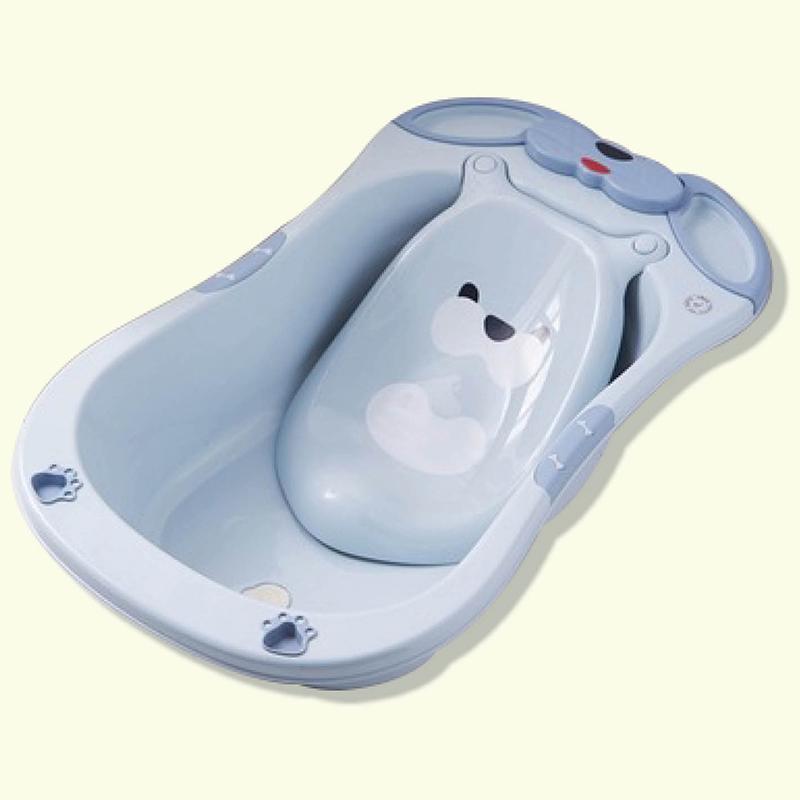 Chậu tắm Gấu Pomo màu xanh