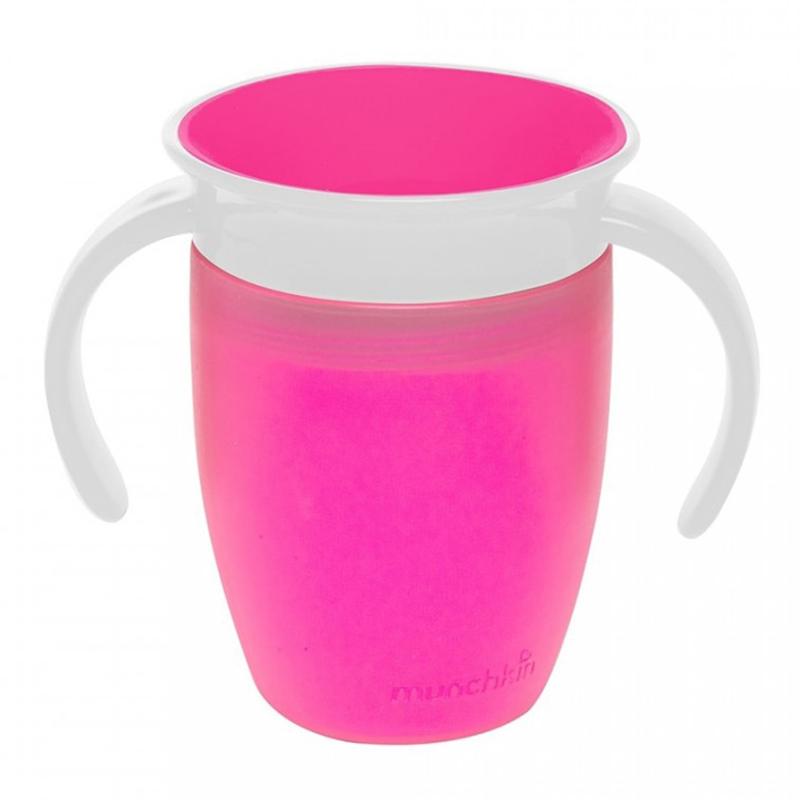 Cốc tập uống 360 độ nhỏ Munchkin 207ml màu hồng