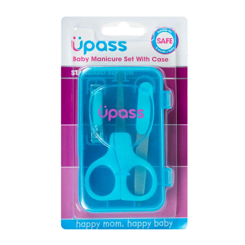 Hộp dụng cụ chăm sóc móng tay cho bé Upass (Made in Thailand) UP4007N màu xanh