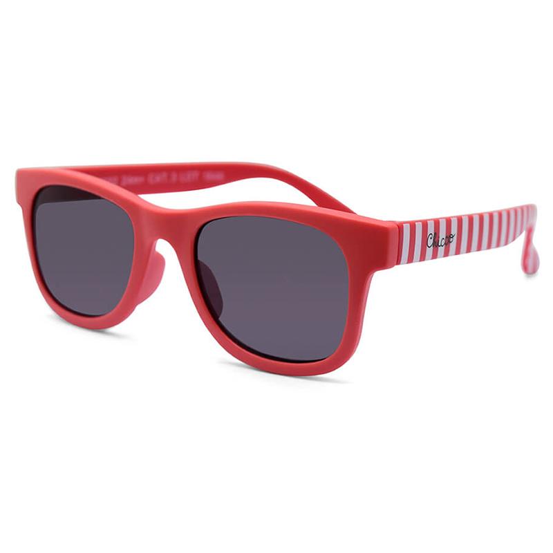 Kính mát chống tia UV Chicco 24M+ Kẻ sọc – Đỏ