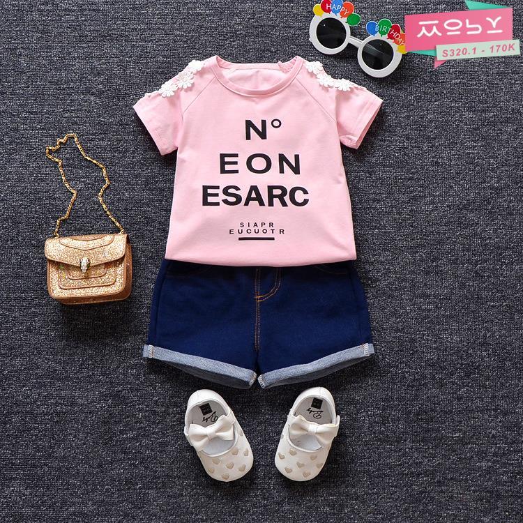 S320.1 - 170K - Set áo & quần bé gái