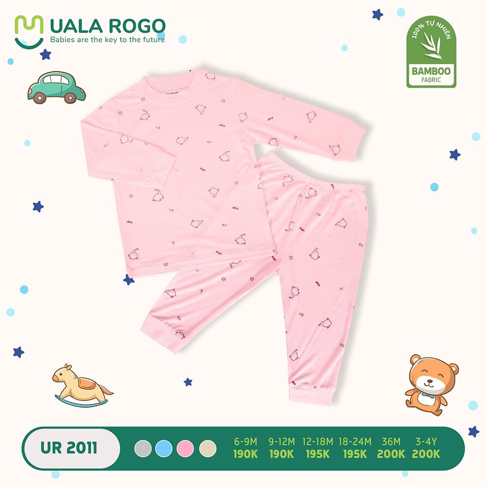 UR2011.3 - Bộ áo cổ lọ và quần giữ nhiệt vải sợi tre Uala Rogo - Hồng