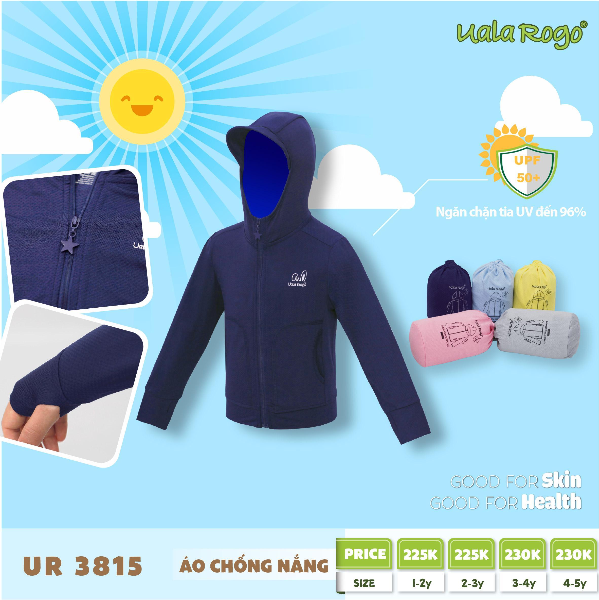 UR3815.1- Áo khoác chống nắng cho bé Uala Rogo