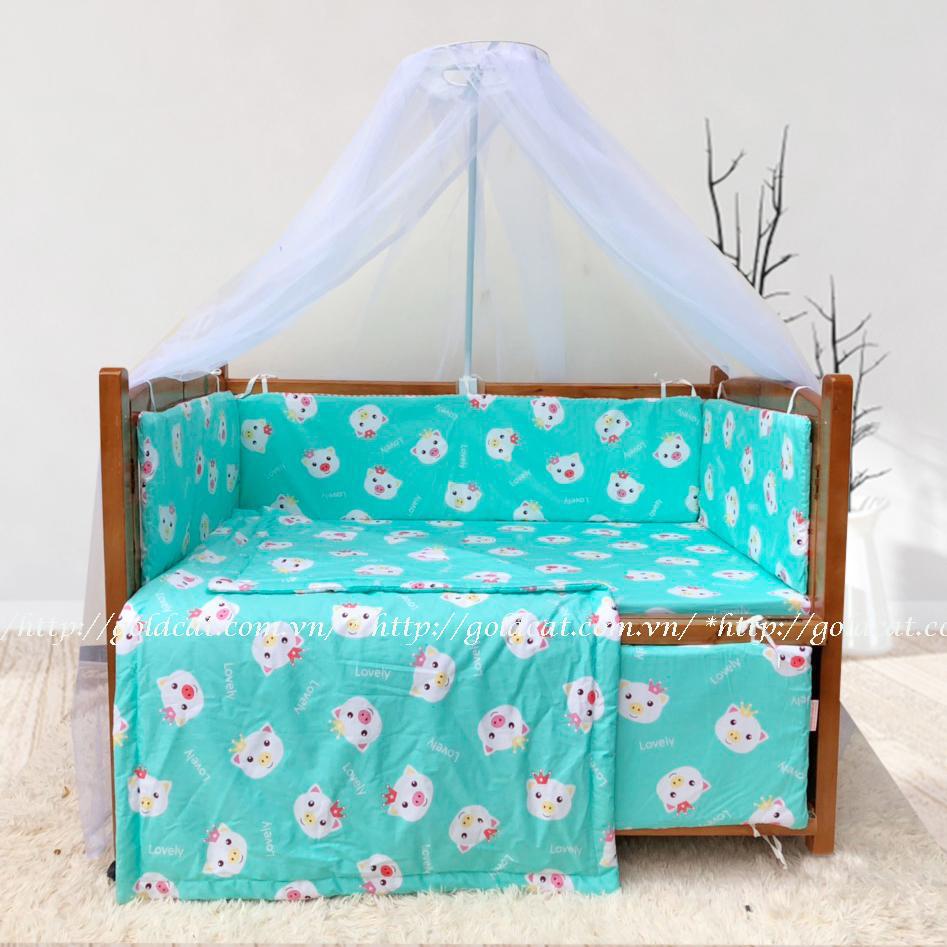 Combo cũi giường Cánh Gián GoldCat (Heo Xanh, Không bánh xe)