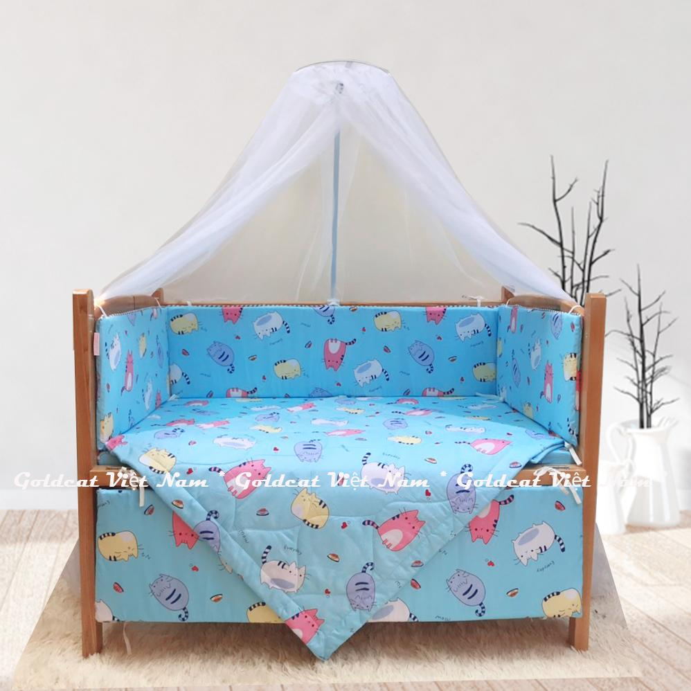 Combo cũi giường gỗ Sồi Goldcat (Mèo Béo Xanh, Không bánh xe)
