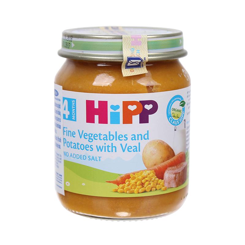 Dinh dưỡng đóng lọ HiPP thịt bê, khoai tây, rau tổng hợp 125g 4M (Trên 4 tháng) AL6152-01