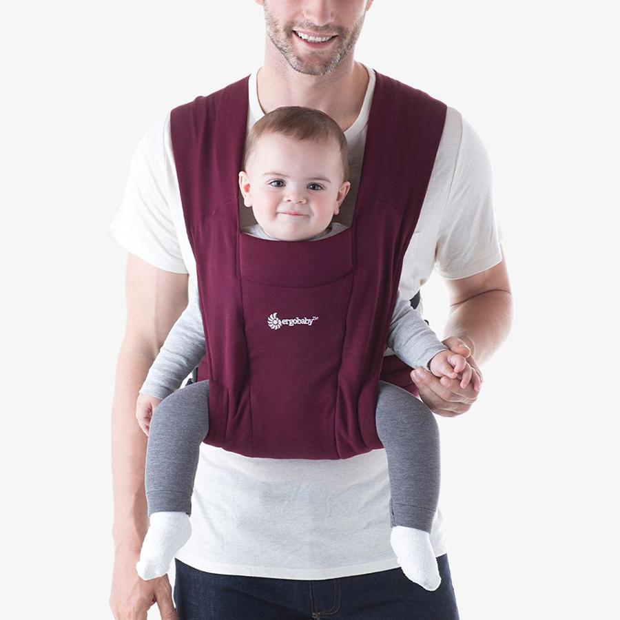 Địu cho bé mới sinh Ergobaby Embrace Cozy – Màu Đỏ đô