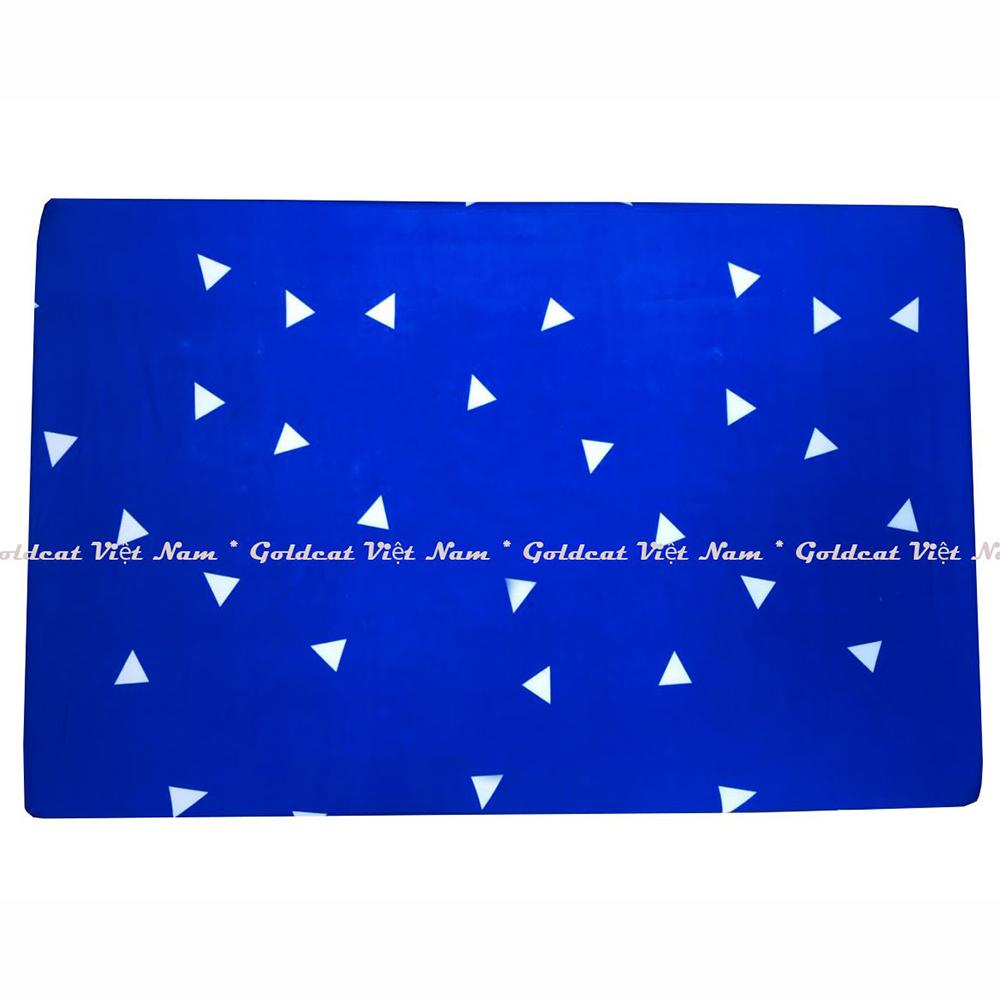 Ga vải bọc đệm cũi cho bé (72x100, tam giác xanh)