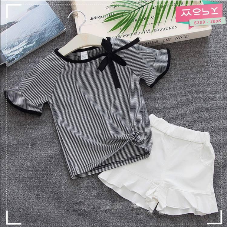 S309 - 200K - Set áo & quần short bé gái 2018