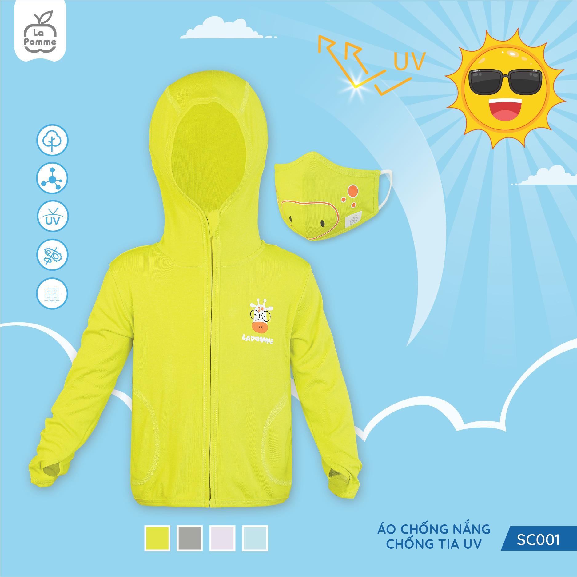 SC001.2 - Áo chống nắng chống tia UV cho bé La Pomme - Màu vàng