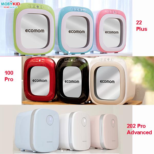 So sánh các dòng máy tiệt trùng UV Ecomom 202 Pro Advanced, Ecomom Eco - 100 Pro và Ecomom Eco - 22 Plus?