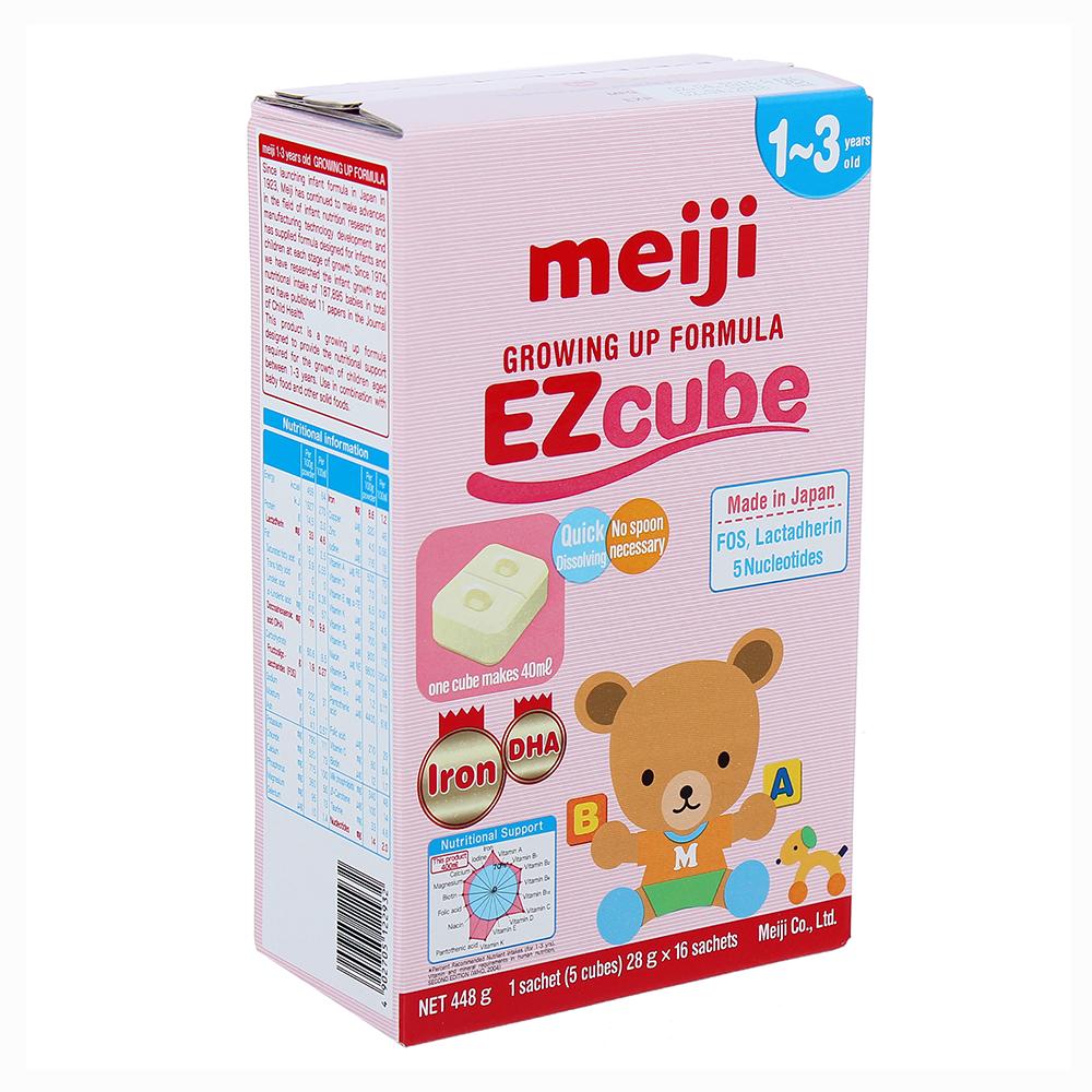 Sữa Meiji Growing Up Formula EZcube 448g số 9 (1 - 3 tuổi)