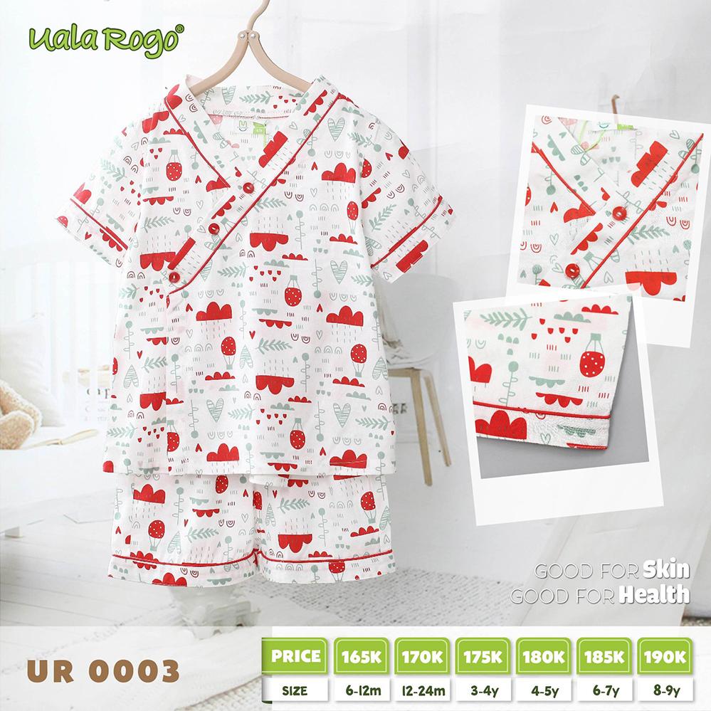 UR0003.1 - Bộ Pijama cho bé Uala Rogo - Màu đỏ