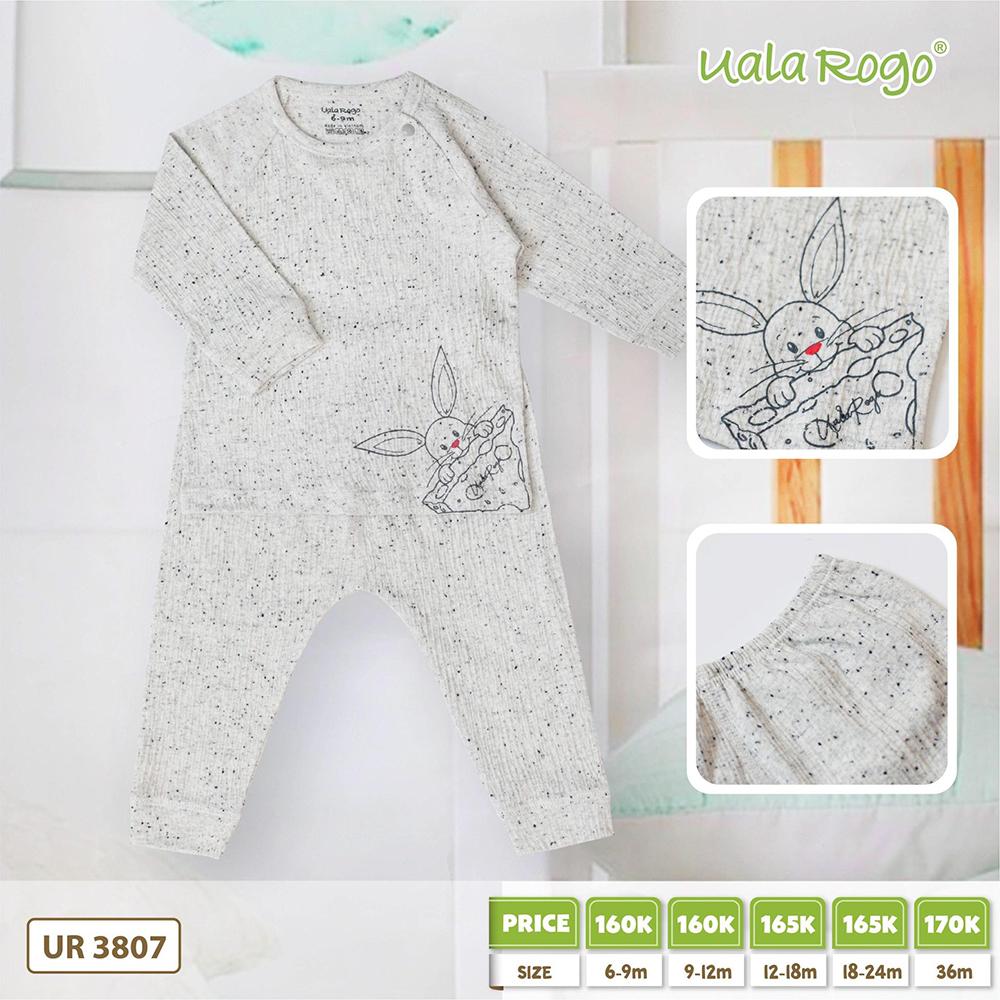 UR3807.1 - Bộ dài tay họa tiết hạt tiêu vải cotton Uala Rogo