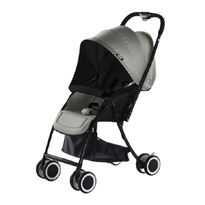 Xe đẩy em bé 2 chiều gấp gọn Vovo màu xám