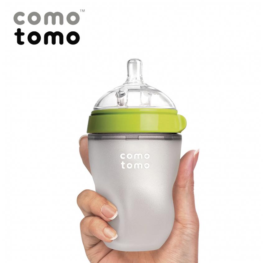 Bình Sữa Comotomo 250ml (Tách lẻ) - Màu Xanh