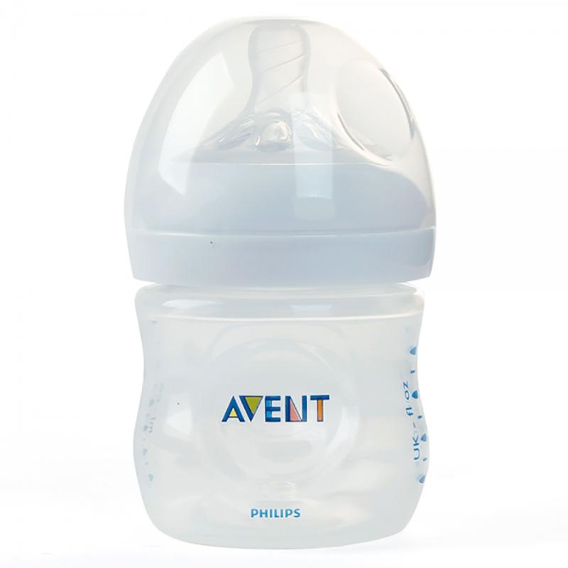Bình sữa Philips Avent Natural nhựa PP BPA Free cổ rộng mô phỏng tự nhiên 125ml (SCF690/13)