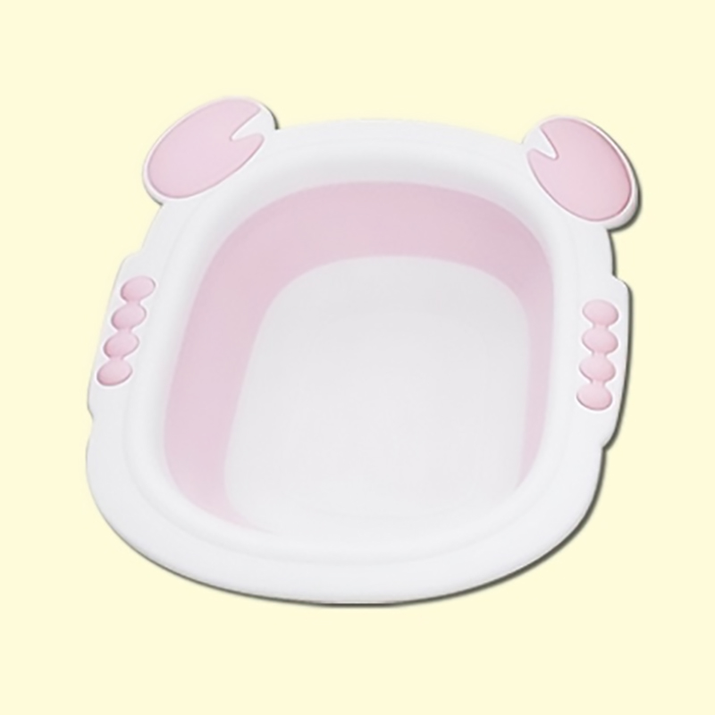 Chậu rửa mặt cho bé gấp gọn Holla màu hồng
