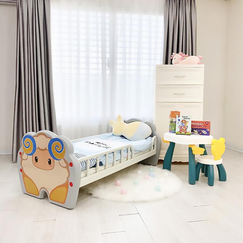 Giường nhựa Holla màu xám