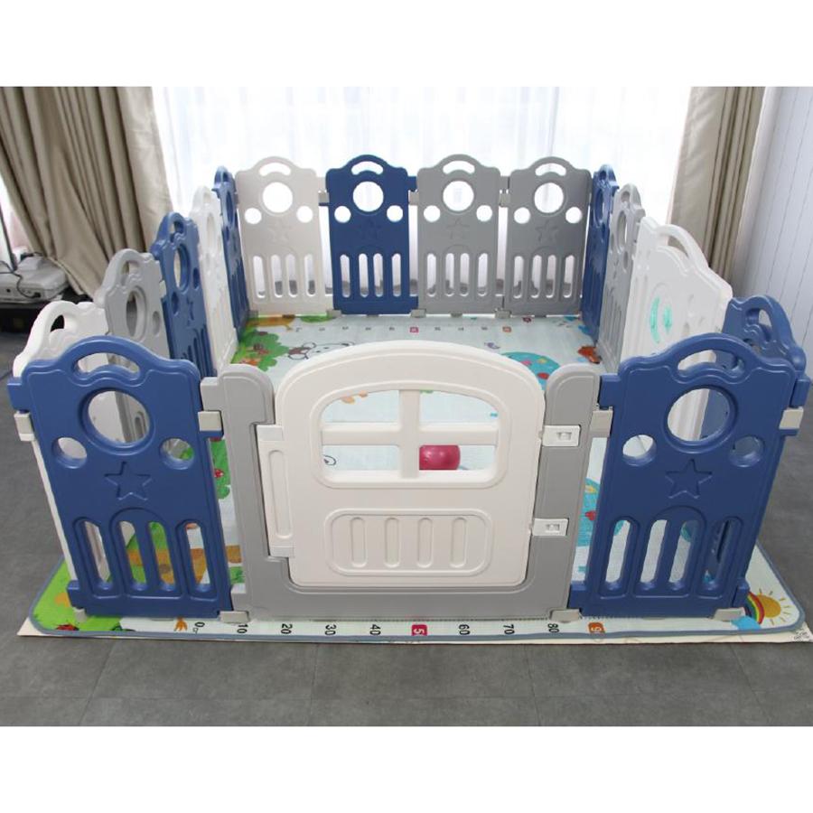 Quây bóng cho bé Toyshouse, KT 150*188*70cm, có kèm thảm - Màu xanh