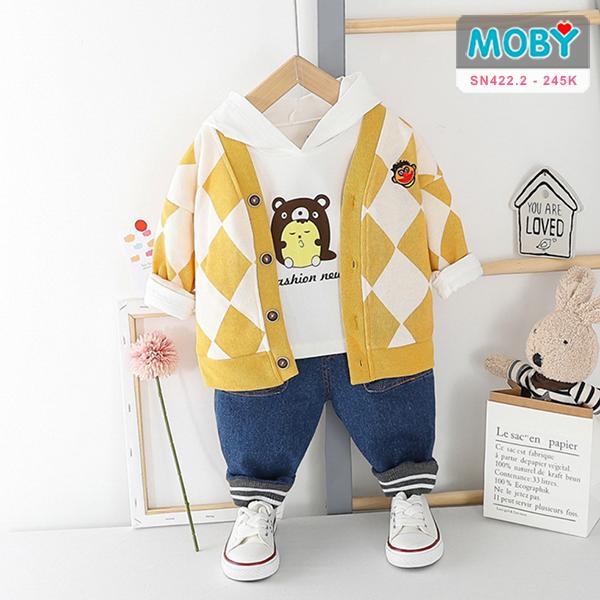 SN422.2 - Set áo khoác, áo thun & quần Jeans cho bé
