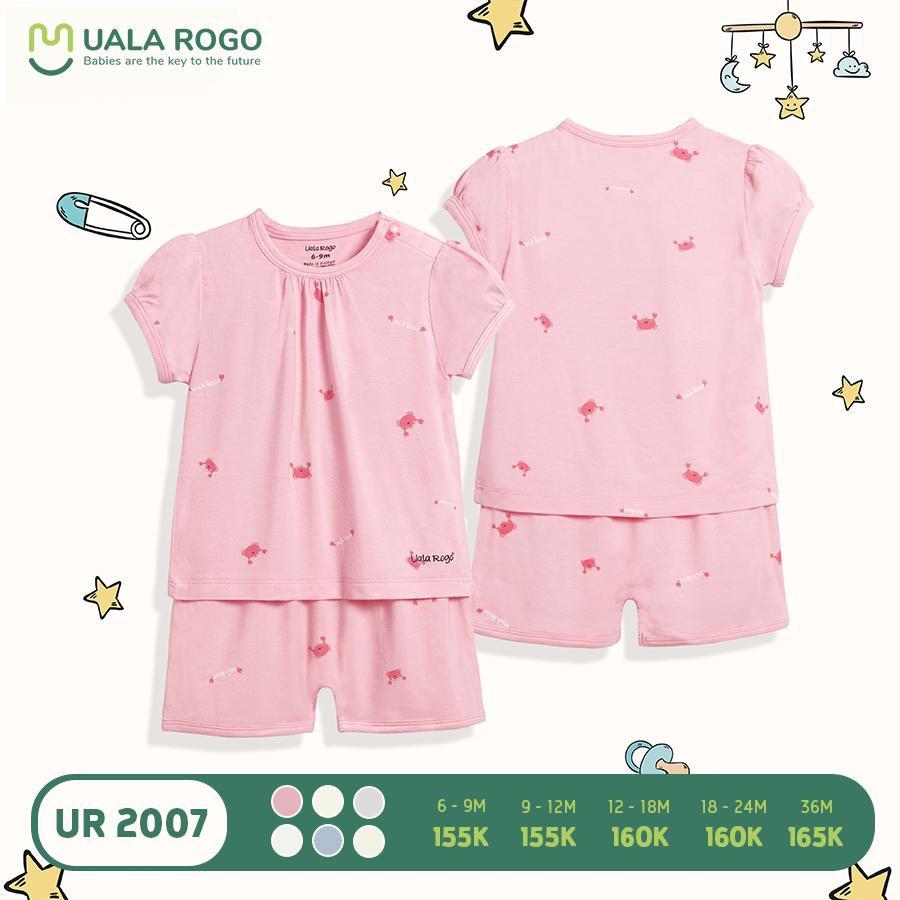 UR2007.2 - Bộ quần áo cộc tay Uala Rogo - Hồng
