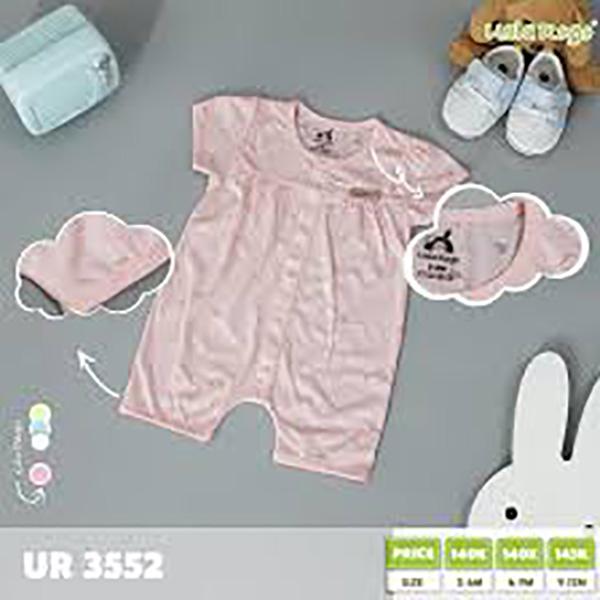 UR3552.2 - Bộ Baby cộc tay cài nút vai cho bé - Màu hồng