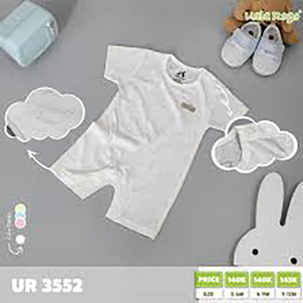 UR3552.3 - Bộ Baby cộc tay cài nút vai cho bé - Màu trắng