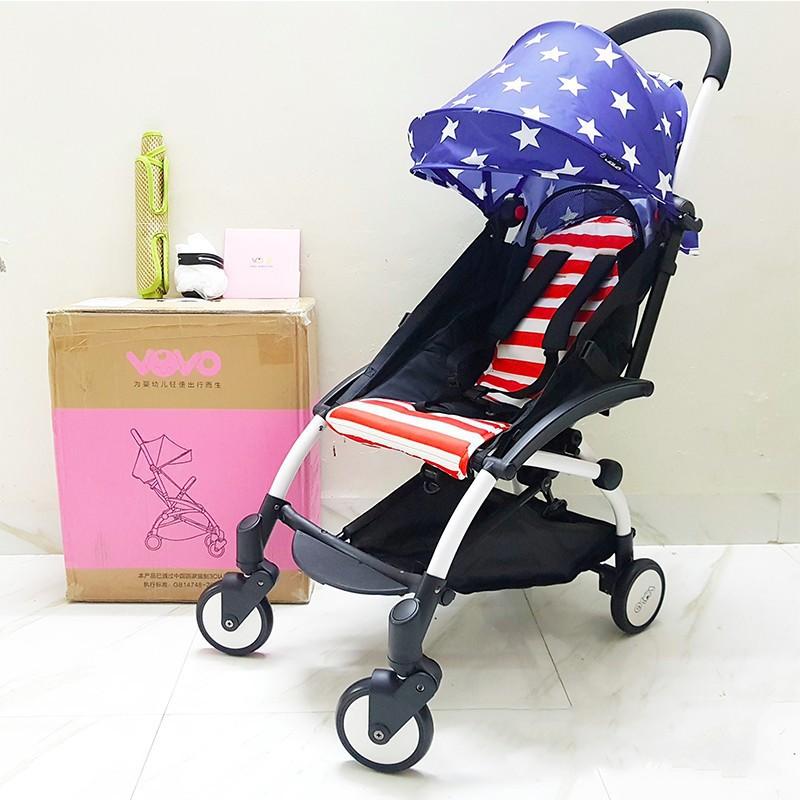 Xe đẩy Vovo 1 chiều màu cờ Mỹ