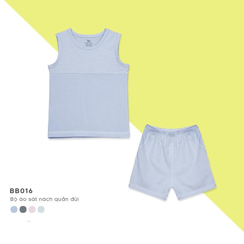 BB016.Blue- Bộ đồ ba lỗ cho bé- Bu