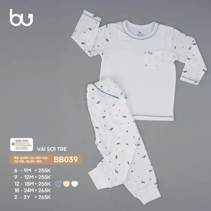 BB039.white - Bộ quần áo dài tay túi ốp Bu