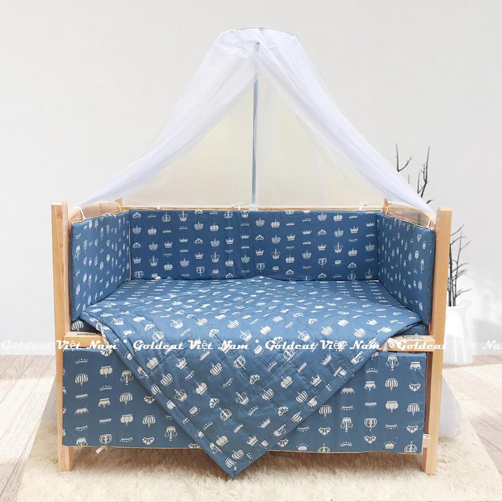 Combo cũi giường Quế Mộc Goldcat (Vương Miện Ghi, Không bánh xe)
