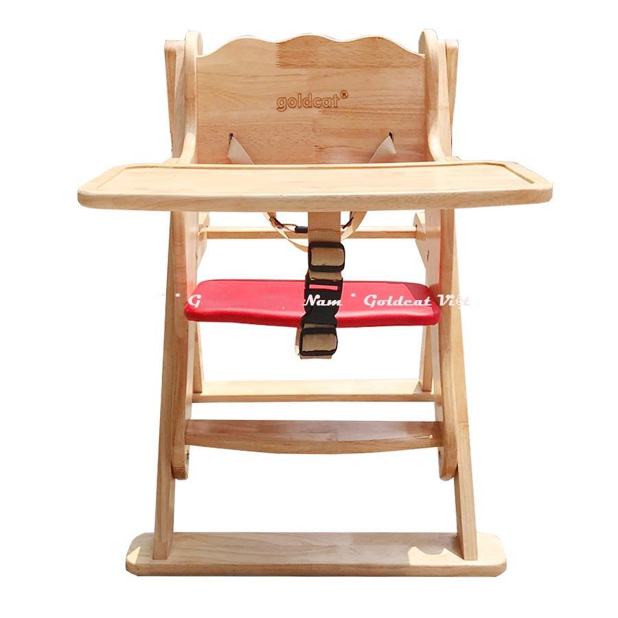 Ghế ăn dặm bằng gỗ cho bé GoldCat