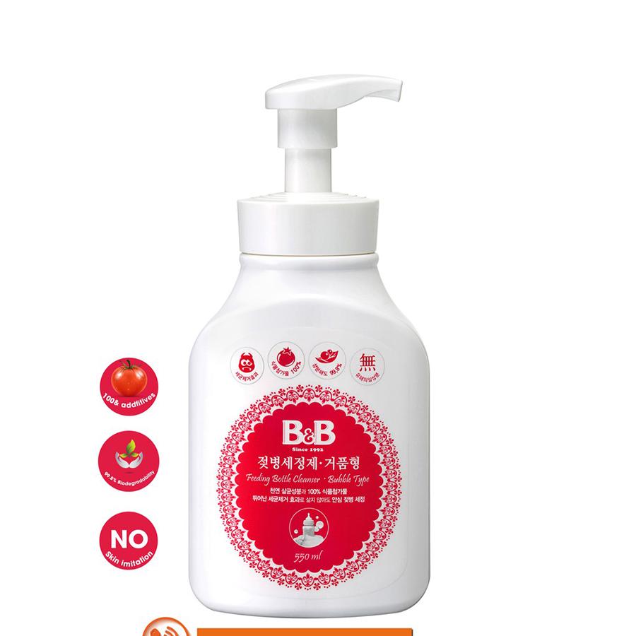 Nước rửa bình sữa dạng bọt B&B Chai 550ml