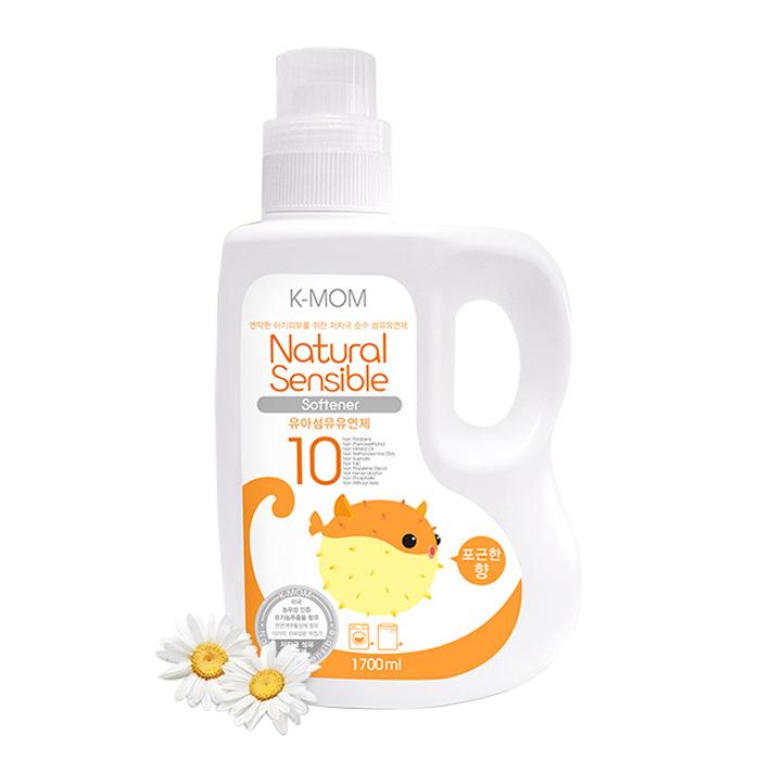 Nước xả vải hữu cơ K-Mom Hàn Quốc dạng can (1700ml) - Cam