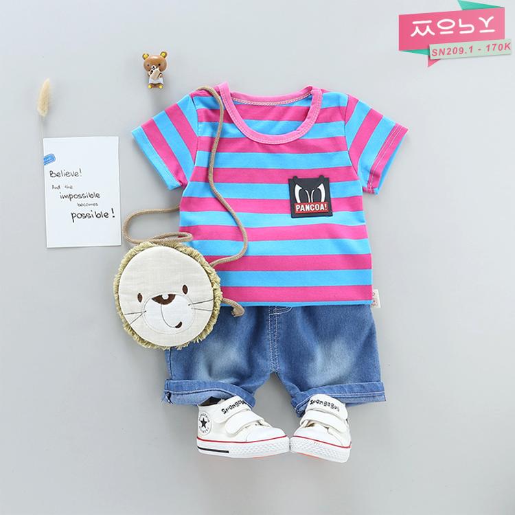 SN209.1 - 170K - Set áo thun cotton & quần Jeans bé trai