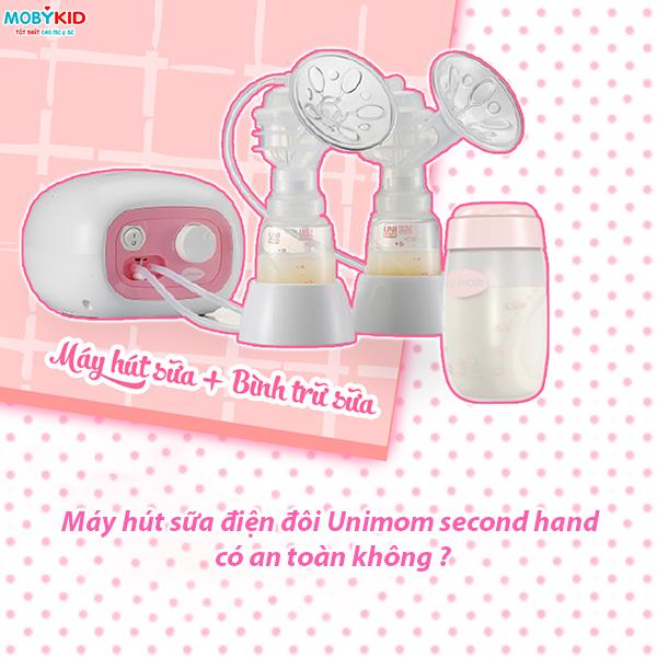 Sử dụng máy hút sữa điện đôi Unimom second hand có an toàn hay không?