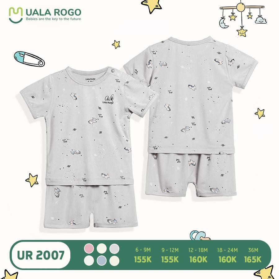 UR2007.3 - Bộ quần áo cộc tay Uala Rogo - Xám