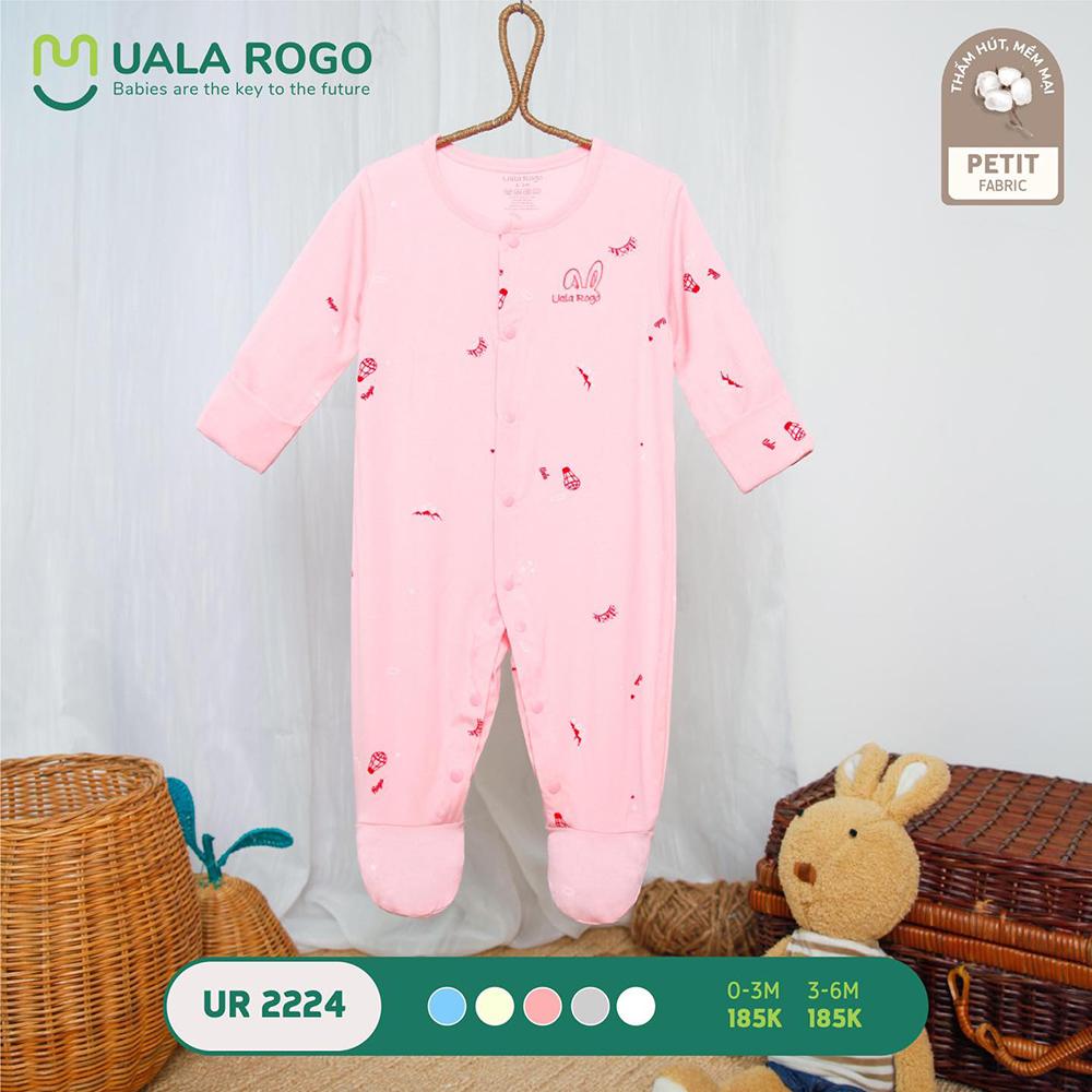 UR2224.3 - Bộ body dài vải petit Uala Rogo - Màu hồng