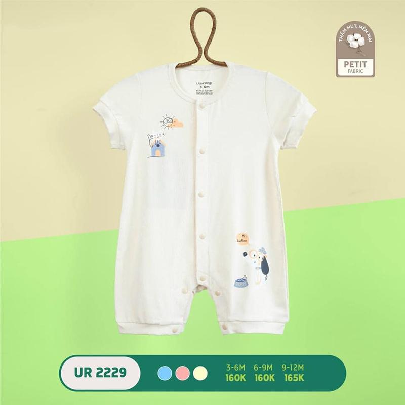 UR2229.2 - Bộ body Uala Rogo cộc tay vải petit - Màu trắng