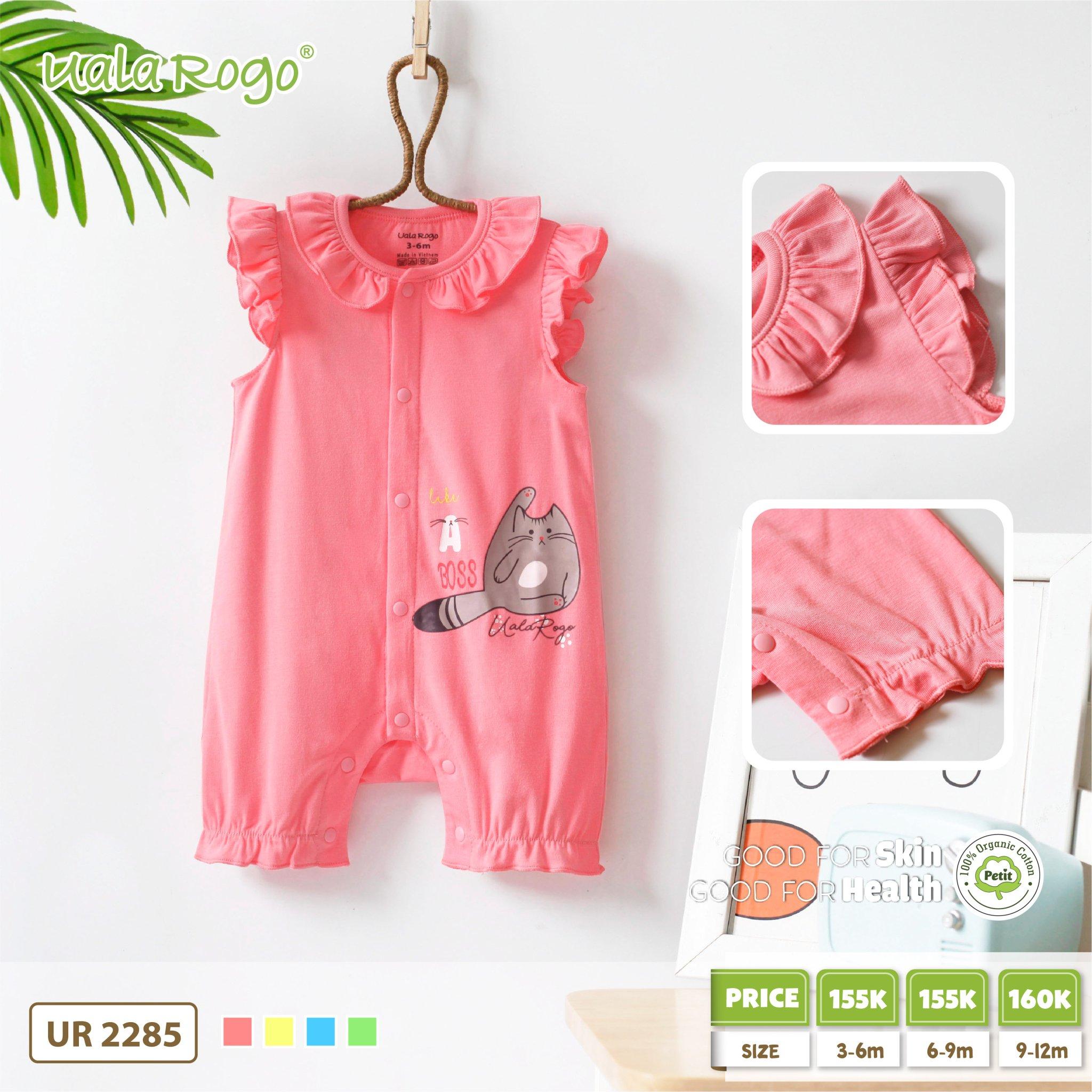 UR2285.1- Set body vải Petit mèo hồng Uala Rogo