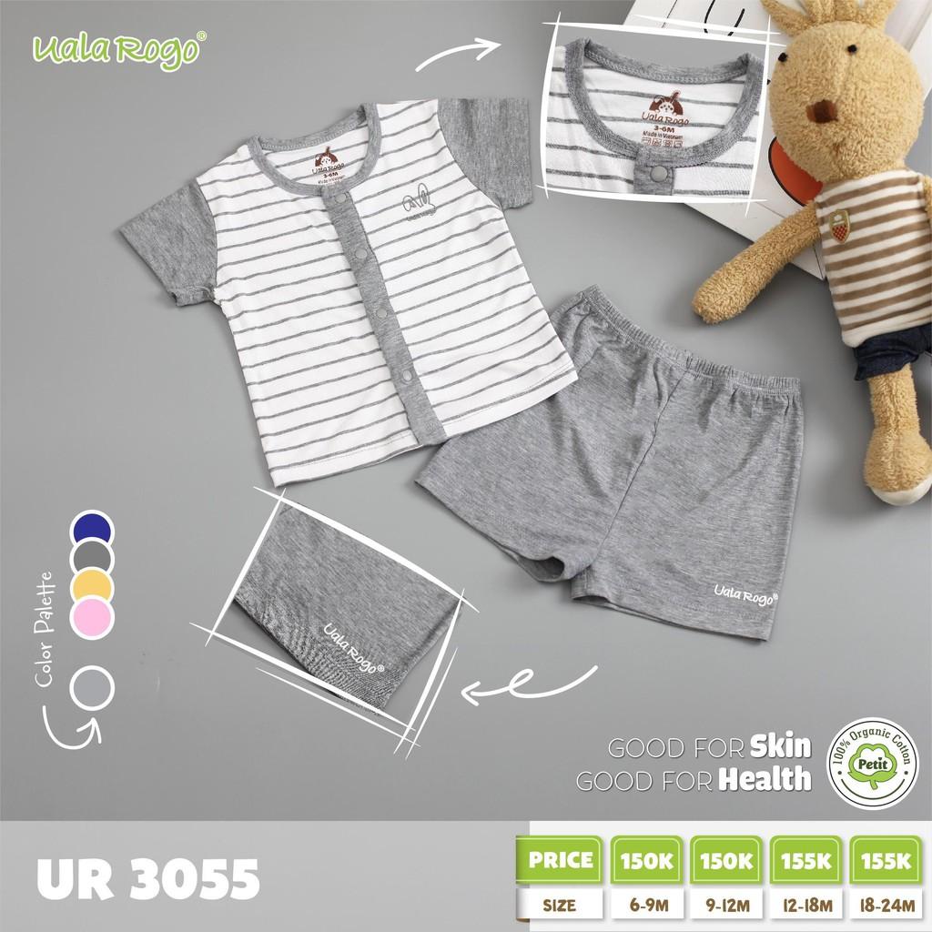 UR3055.3 - Bộ cúc giữa cho bé - Màu xám